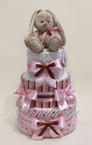 Торт из памперсов  и пелёнок для девочки с Зайкой Ми