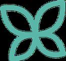 Logo des Jardins du renard et du papillon : le papillon. La biodiversité à préserver.