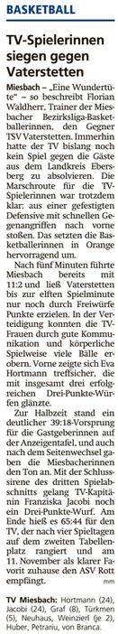 Bericht im Miesbacher Merkur am 23.10.2018 - Zum Vergrößern klicken