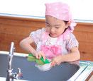 子ども料理教室のこだわり 片づけを身に付ける