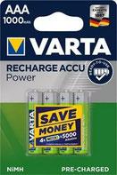 VARTA RECHARGE ACCU Power 1000mAh
