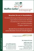 Anzeige von Waffen Geller für das Hirschbuch