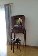 モダン仏壇直置ホワイトオーク椅子付き