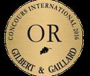 La cuvée Sensation a obtenu la médaille d'or au concours international Gilbert et Gaillard 2016