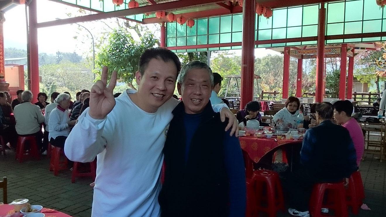 2015年2月7日福安、綠灣、大鵬、日安年終尾牙聚餐集於福安宮前廣場