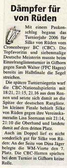 Cronenberger Woche Bericht vom 20.01.2006 ERLT