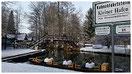 Übersicht der Winterkahnfahrten wie Glühweinfahrten und kullinarische Winterfahrten am kleinen Hafen in Lübbenau Spreewald