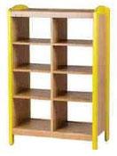 Meuble de rangement à étagères 2 colonne, mobilier pour petite enfance, assistantes maternelles à acheter pas cher. Meuble à étagères 2 colonnes de rangement de qualité pour les rangements petite enfance.