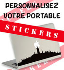 Autocollant sticker ordinateur portable Mons