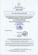 Zertifikat ASI-Arbeiten