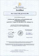 Zertifikat Sanierung vob Brandschäden