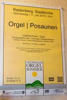 11.07.2013 Orgel mt Posaunen