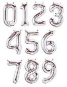 Folienballon Luftballon Ballon Zahl Ballonzahl Folienzahl Zahlen Buchstaben XXL Schriftzug Schriftzüge Geburstag Hochzeit Namen Brautpaar Party Helium Northstar Balloon rosegold silber gold pink blau Zahlen