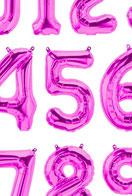 Folienballon Luftballon Ballon Zahl Ballonzahl Folienzahl Zahlen Buchstaben XXL Schriftzug Schriftzüge Geburstag Hochzeit Namen Brautpaar Party Helium Northstar Balloon rosegold silber gold pink blau schwarz XXL