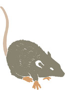 Rat; Ratte; Tobias Willa; Illustration; Incidental Illustration; Freistehend; Grafisch; Tier; Nagetier; Ammonite Press; Sherlock Holmes Escape Book; Rongeur; Schwanz; Tail; Spiel; Game