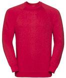 Textildruck Raglan Sweatshirt RUSSELL