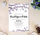 lilac wedding invitations