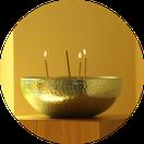 Kerzenschale im Raum der Stille ZUGvogel Hospiz Sulingen