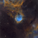 NGC 3324 in Carina mit Hubble-Palette