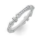 Alliance Ring in Weissgold mit Brillanten aus der Verlobungsring Kollektion Himalaja der Goldschmiede OBSESSION Zürich und Wetzikon