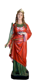 Religious statues saints female - Saint Lucy