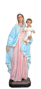 Religious statues Mary-Mary and baby