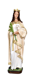 Religious statues saints female - Saint Agnes