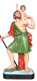 Religious statues saints male - Saint Christopher