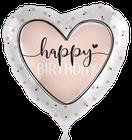 Folienballon Konfetti punkte rund rosa Herz pink rose schwarz  Mädchen Heliumballon Kindergeburtstag Geburtstag Deko Dekoration Party Bouquet Ballon Luftballon Happy Birthday Girl Glossy happy rosa rose