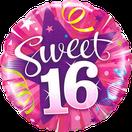 Folienballon Geburtstag rund pink lila Heliumballon Deko Dekoration Junge Mann Frau Mädchen Party Bouquet Ballon Luftballon Happy Birthday  sweet 16 18 30 40 50 60 Luftschlangen Versand