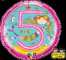 Folienballon rund rosa pink Mädchen Heliumballon Kindergeburtstag Deko Dekoration Party Bouquet Ballon Luftballon Rachel Ellen Happy Birthday Girl 1 2 3 4 5 Nixe Meerjungfrau