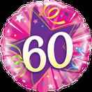 Folienballon Geburtstag rund pink lila Heliumballon Deko Dekoration Junge Mann Frau Mädchen Party Bouquet Ballon Luftballon Happy Birthday  18 30 40 50 60 Luftschlangen