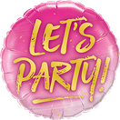 Folienballon rund rosa pink gold Frau Mädchen Heliumballon Kindergeburtstag Geburtstag Deko Dekoration Party Bouquet Ballon Luftballon Happy Birthday Lets Party