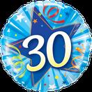 Folienballon Geburtstag rund blau Heliumballon Deko Dekoration Junge Mann Frau Mädchen Party Bouquet Ballon Luftballon Happy Birthday  18 30 40 50 60 Luftschlangen