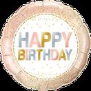 Folienballon rund silber rosegold rose metallic Punkte gold Glitter lavendel Frau Mädchen Heliumballon Kindergeburtstag Geburtstag Deko Dekoration Party Bouquet Ballon Luftballon Happy Birthday Dots Konfetti