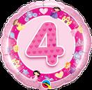 Ballon Folienballon Heliumballon Luftballon Geburtstag Mädchen pink rosa Birthday Girl Kindergeburtstag Party Dekoration Deko Zahlen Jahr 1 2 3 4 5 Bär Bauernhof Tiere Fee Prinzessin Princess Ballerina