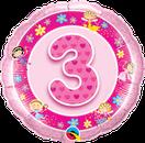 Folienballon rund rosa pink Mädchen Heliumballon Kindergeburtstag Deko Dekoration Party Bouquet Ballon Luftballon Birthday Girl 1 2 3 4 5 Fee Elfe