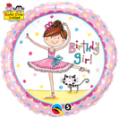 Folienballon rund rosa pink Mädchen Heliumballon Kindergeburtstag Deko Dekoration Party Bouquet Ballon Luftballon Rachel Ellen Happy Birthday Girl 1 2 3 4 5 Ballerina