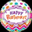 Folienballon Geburtstag rund blau Heliumballon Deko Dekoration Junge Mann Frau Mädchen Party Bouquet Ballon Luftballon Happy Birthday  Einhorn Regenbogen Versand verschicken Ballongruß Ballonbox Happy Birthday