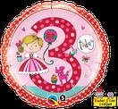 Folienballon rund rosa pink Mädchen Heliumballon Kindergeburtstag Deko Dekoration Party Bouquet Ballon Luftballon Rachel Ellen Happy Birthday Girl 1 2 3 4 5 Prinzessin Princess