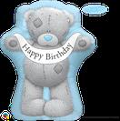 Folienballon Geburtstag blau Heliumballon Deko Dekoration Junge Mann Frau Mädchen Party Bouquet Ballon Luftballon Happy Birthday  Banner Tatty Teddy Teddybär Bär Me to You