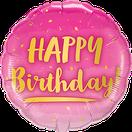Folienballon rund rosa pink gold Glitter schwarz lavendel Frau Mädchen Heliumballon Kindergeburtstag Geburtstag Deko Dekoration Party Bouquet Ballon Luftballon Happy Birthday to you Punkte Konfetti