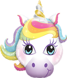 Folienballon Einhorn Unicorn bunt Frau Mädchen Heliumballon Kindergeburtstag Geburtstag Deko Dekoration Party Bouquet Ballon Luftballon Happy Birthday