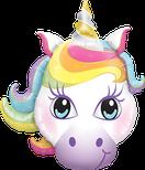 Folienballon Einhorn Unicorn bunt Frau Mädchen Heliumballon Kindergeburtstag Geburtstag Deko Dekoration Party Bouquet Ballon Luftballon Happy Birthday