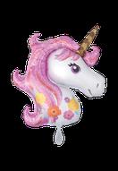 Folienballon Einhorn Unicorn bunt Frau Mädchen Heliumballon Kindergeburtstag Geburtstag Deko Dekoration Party Bouquet Ballon Luftballon Happy Birthday rosa