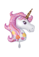 Folienballon Einhorn Unicorn bunt Frau Mädchen Heliumballon Kindergeburtstag Geburtstag Deko Dekoration Party Bouquet Ballon Luftballon Happy Birthday rosa