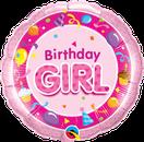 Folienballon rund rosa pink Heliumballon Kindergeburtstag Deko Dekoration Mädchen Party Bouquet Ballon Luftballon Birthday Boy 1 2 3 4 5
