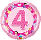 Folienballon rund rosa pink Mädchen Heliumballon Kindergeburtstag Deko Dekoration Party Bouquet Ballon Luftballon Birthday Girl 1 2 3 4 5 Princess Prinzessin