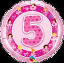 Folienballon rund rosa pink Mädchen Heliumballon Kindergeburtstag Deko Dekoration Party Bouquet Ballon Luftballon Birthday Girl 1 2 3 4 5 Ballerina Tänzerin