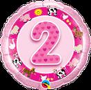 Folienballon rund rosa pink Mädchen Heliumballon Kindergeburtstag Deko Dekoration Party Bouquet Ballon Luftballon Birthday Girl 1 2 3 4 5 Bauernhoftiere Tiere Bauernhof